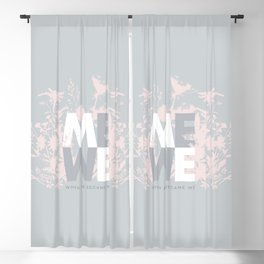 When ME became WE #love #Valentines #decor Blackout Curtain