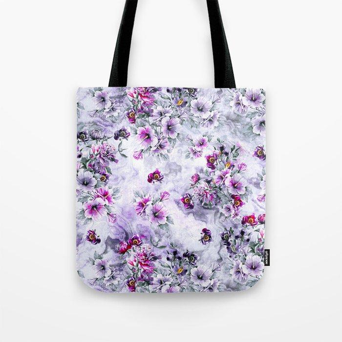 Floral Ocean Soft Tote Bag