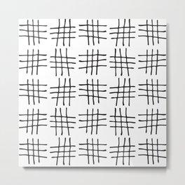 Hash Marks Metal Print
