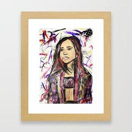 Nail Polish Art of Bailee Madison Framed Art Print