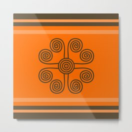 Tribal swirl Metal Print