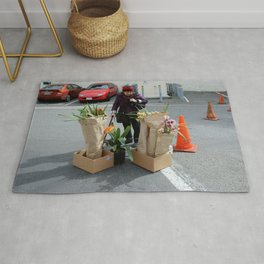 Caution - Orchid Crossing Rug