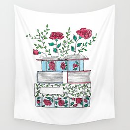 Blooming Books Wall Tapestry