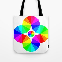 Twisted 12 Color Wheel Eye Tote Bag