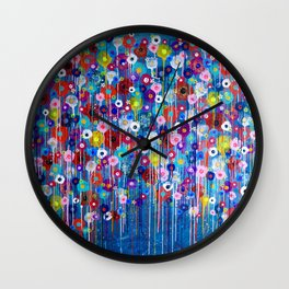 Happy Hour 3 floral Wall Clock