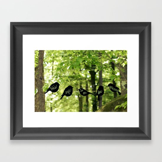 His Eye Is On The Sparrow Framed Art Print