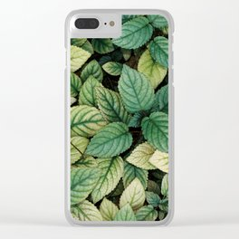 Amidst the Green Clear iPhone Case
