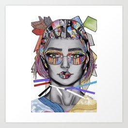 Colorful textile fashion illustration Art Print
