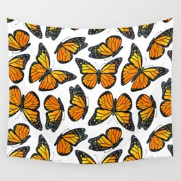 Monarch Butterfly Pattern Wall Tapestry
