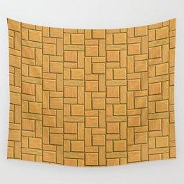 Mustard Blocks Wall Tapestry