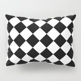 Contemporary Black & White Gingham Pattern - Mix and Match Pillow Sham