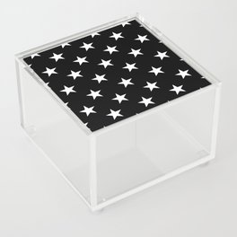 Stars (White/Black) Acrylic Box