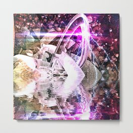 Abstract Rivers Metal Print