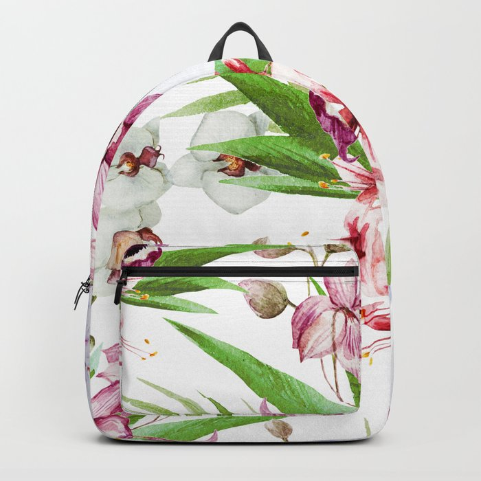 Tropical Floral Pattern 06 Backpack