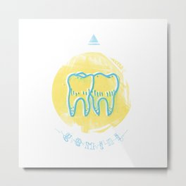 Gemini - Teeth Zodiac Metal Print