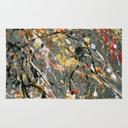 Jackson Pollock Interpretation Acrylics On Canvas Splash Drip Action Painting Rug