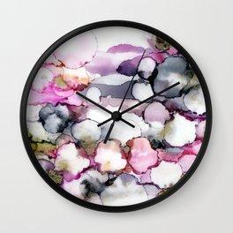 Flower Bubbles Wall Clock