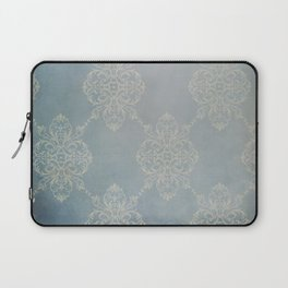 Vintage Damask - Faded Indigo Blue Laptop Sleeve