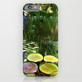 Greenery Pond iPhone Case