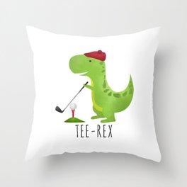Tee-Rex Throw Pillow