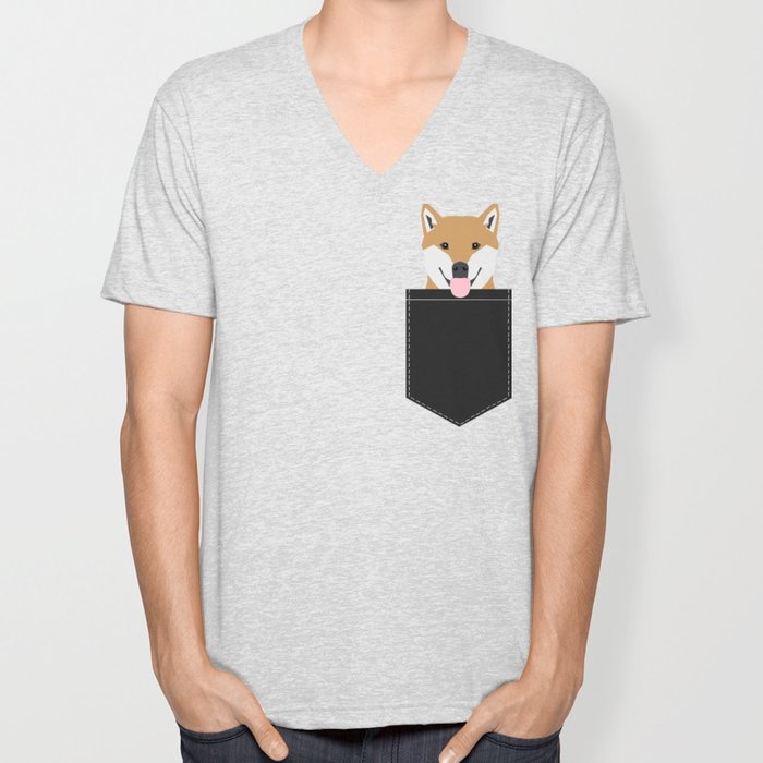 Indiana - Shiba Inu gift design for dog lovers and dog people Unisex V-Neck