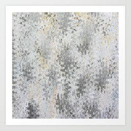 Abstract gray Art Print