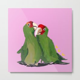 BFF Lovebirds Metal Print