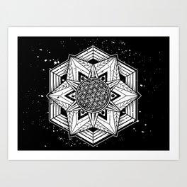 Flower of Life Mandala Art Print