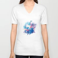 30 seconds to mars V-neck T-shirts featuring 30 Seconds to Mars by Rose's Creation