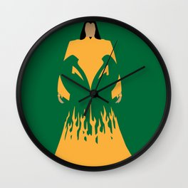The mandarin villain cartoons green yellow Wall Clock
