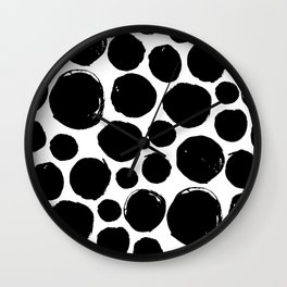 Black ink drops Wall Clock