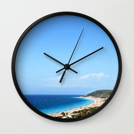 Mountains and the Sea Wall Clock