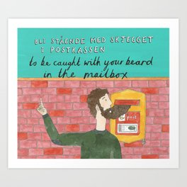 Beard in the Mailbox Art Print