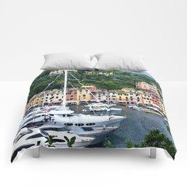 Portofino Harbour Italy Comforters