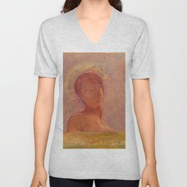 "Odilon Redon ""Closed Eyes"" Unisex V-Neck"