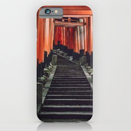 Red Arches of Fushimi Inari-taisha. Kyoto, Japan. Culture Travel Print - Photography Wall Art.  iPhone Case