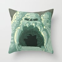 castle Throw Pillows featuring castle by neicosta