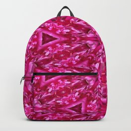 Pink Cabbage Rose Triangles 5072 Backpack