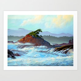 Wild West Coast Art Print