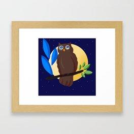 Cute Owl bird Framed Art Print