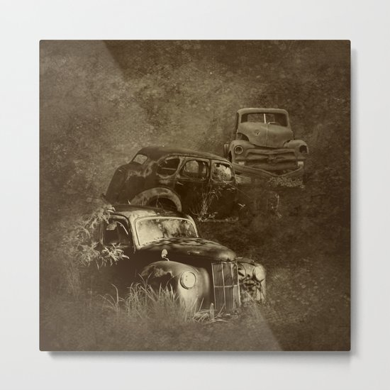 Cars in the jungle Metal Print