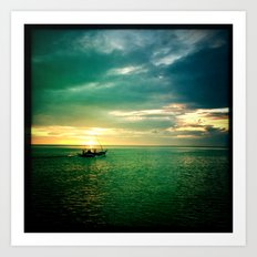 Balayan Bay Sunset Art Print
