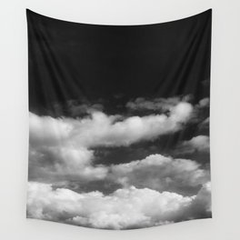Clouds in black and white Wall Tapestry