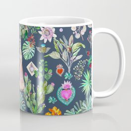 Frida Kahlo Botanics - Carbon Grey Coffee Mug