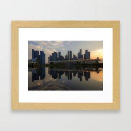 Singapore, Skyline Framed Art Print