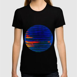 Midnight Blue Lava Lines, Our Earth Burn Marks T-shirt