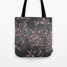 SAKURA LOVE - GRUNGE BLACK Tote Bag