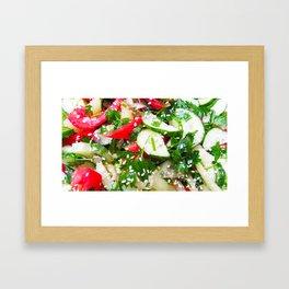 Fresh vegetable salad Framed Art Print