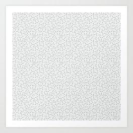 Faces, White Art Print