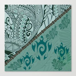 Hawaiian Tapa Cloth - Traditional Print Canvas Print